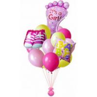 Фонтан из шаров на рождение дочки
