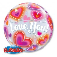 "П BUBBLE 22"" ILY Сердца"