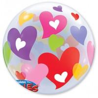 """П BUBBLE 22"""" Сердца разноцветные"""