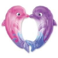 А ФИГУРА/P35 Дельфины целующиеся