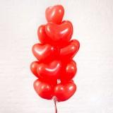 """Шары с гелием """"Сердца красные (40 см)"""" 15 шт."""