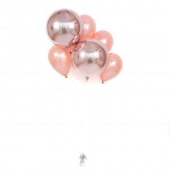 """Композиция из шариков """"Розовое золото"""""""
