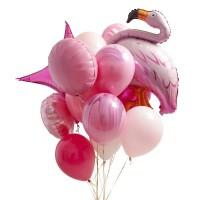 "Композиция из шариков ""Фламинго"""