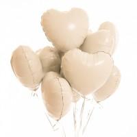 """Облако из шариков """"Сердца белые"""" 9 шт"""