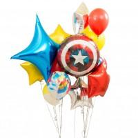 "Композиция из шариков ""Капитан Америка"""