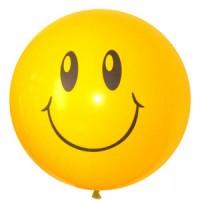 Большой шар с гелием (1 метр) Смайл 1шт