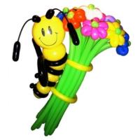 """Цветы из шаров """"Пчелка на цветах"""" 17 шт."""