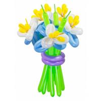 """Цветы из шаров """"Синие ирисы"""" 11 шт."""