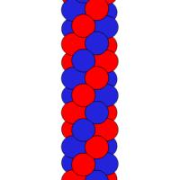 Гирлянда из шаров красно-синяя 1 метр