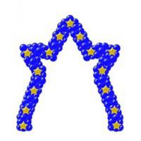 Звездная арка каркасная 1 метр