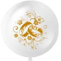 Большие шар с гелием 1 метр Свадебные кольца 1шт