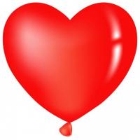 Сердце с гелием 1 м