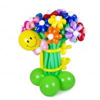 """Цветы из шаров """"Со смайлом"""" 19 шт"""
